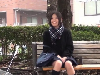 Japanese teen toying perplexed