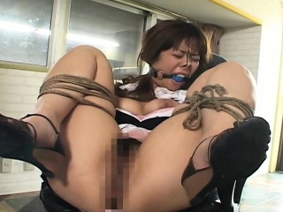 Asian constrained in whore..