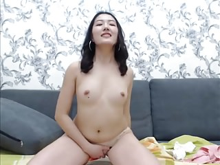 Cute Asian surpassing webcam