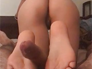 chinese spread out footjob