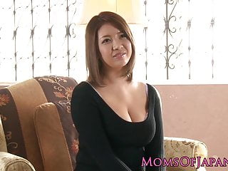Bosomy japanese milf enjoys..