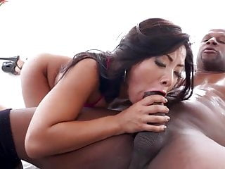 downcast asian takes anal..