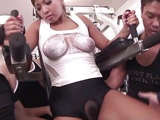 Gorged JAV gym erection..