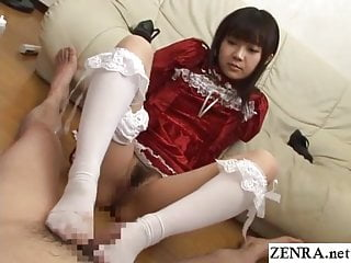 Japanese teen footjob and..